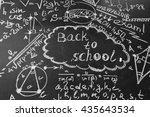 back to school background with... | Shutterstock . vector #435643534
