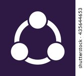 collaboration icon . vector... | Shutterstock .eps vector #435644653