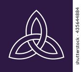 celtic trinity knot symbol   Shutterstock .eps vector #435644884
