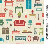 vintage vector seamless pattern ...   Shutterstock .eps vector #435647209