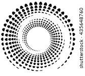 dotted circular element.... | Shutterstock .eps vector #435648760