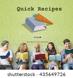 today's special quick recipes... | Shutterstock . vector #435649726