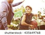 basketball athlete sport... | Shutterstock . vector #435649768
