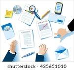 business concept. modern flat... | Shutterstock .eps vector #435651010