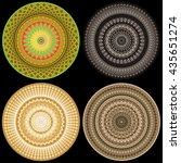 mandala. round ornament pattern....   Shutterstock .eps vector #435651274