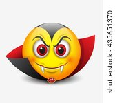 vampire emoticon  emoji  smiley ... | Shutterstock .eps vector #435651370