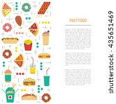 fast food  burgers  sandwiches  ... | Shutterstock .eps vector #435651469