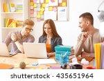 college students working...   Shutterstock . vector #435651964