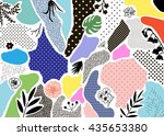 creative geometric background... | Shutterstock .eps vector #435653380