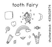 Tooth Fairy Set. Hand Drawn...
