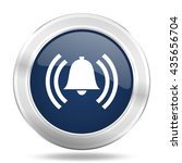 alarm icon  dark blue round... | Shutterstock . vector #435656704