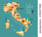 map of italy vector...