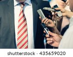 the media   journalists... | Shutterstock . vector #435659020