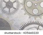 vector illustration of gear... | Shutterstock .eps vector #435660220