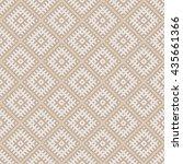 seamless beige vintage slavic...   Shutterstock .eps vector #435661366