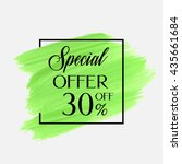 sale special offer 30  off sign ... | Shutterstock .eps vector #435661684