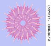 pink vortex  abstract geometric ... | Shutterstock .eps vector #435662074