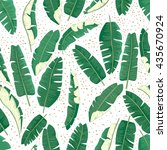 banana leaves pattern. | Shutterstock .eps vector #435670924