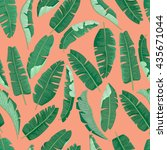 banana leaves pattern. | Shutterstock .eps vector #435671044