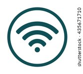 wi fi   wifi icon   circle  ... | Shutterstock .eps vector #435671710