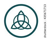 triquetra symbol icon   circle  ... | Shutterstock .eps vector #435671713