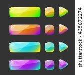 vector design for website. set... | Shutterstock .eps vector #435672274