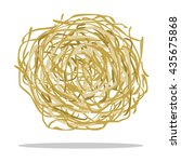 tumbleweed icon cartoon. singe... | Shutterstock .eps vector #435675868