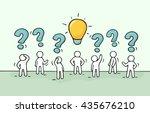 sketch   crowd of working... | Shutterstock .eps vector #435676210