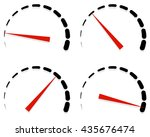 dial  meter templates with red...   Shutterstock .eps vector #435676474