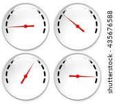 dial  meter templates with red... | Shutterstock .eps vector #435676588