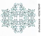 watercolor background. flower... | Shutterstock . vector #435678049