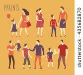 set of cartoon people.parents... | Shutterstock .eps vector #435682870