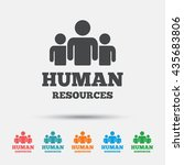 human resources sign icon. hr... | Shutterstock .eps vector #435683806