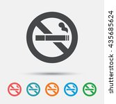 no smoking sign icon. cigarette ... | Shutterstock .eps vector #435685624