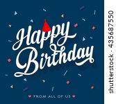 happy birthday | Shutterstock .eps vector #435687550