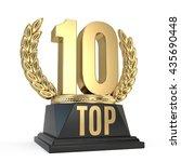 top 10 ten award cup symbol... | Shutterstock . vector #435690448