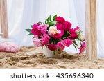 beautiful  delicate wedding... | Shutterstock . vector #435696340