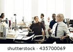 business marketing team... | Shutterstock . vector #435700069