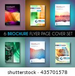 set ofbrochure templates  flyer ... | Shutterstock .eps vector #435701578