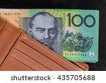 australian currency in leather... | Shutterstock . vector #435705688