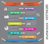 design template  timeline... | Shutterstock .eps vector #435706180