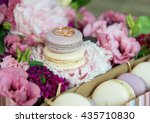 Set Of Colorful Macaroon With...