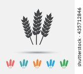 agricultural sign icon. gluten... | Shutterstock .eps vector #435712846