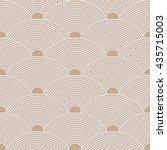 seamless beige dense asian... | Shutterstock .eps vector #435715003