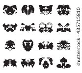 collection of rorschach test... | Shutterstock .eps vector #435715810