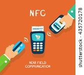 near field communication ... | Shutterstock .eps vector #435720178