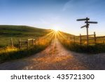 Wooden Signpost Near A Path An...