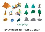 isometric set of object for... | Shutterstock .eps vector #435721534