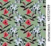 wild flowers seamless pattern...   Shutterstock . vector #435722959