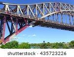 the hell gate bridge  east... | Shutterstock . vector #435723226